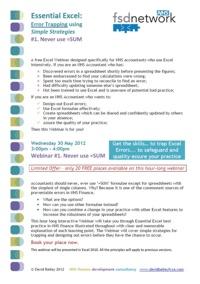 Essential Excel 1 Programme