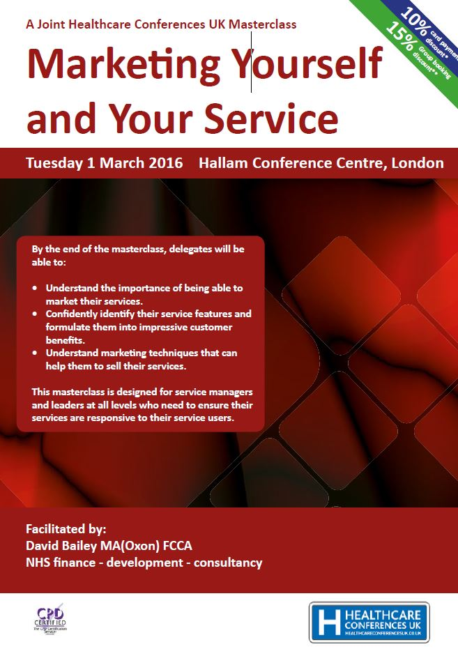 Marketing Yourself and Your Service – Open Access Course in London