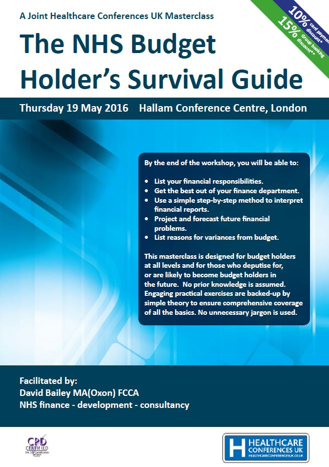 The NHS Budget Holder's Survival Guide – Open Access Course in London