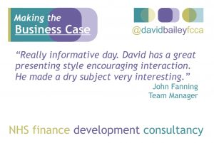 Evaluation comments from workshops run by David Bailey FCCA