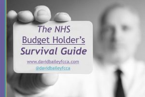 """David demystified NHS budgets in one day. Now able to have real and meaningful conversations with accountants."" – The NHS Budget Holder's Survival Guide – Darlington"